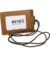 rfid vera pelle 4 slot per scheda collo borsa portafoglio vintage solido