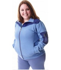 campera azul aptitud plus size (5335)