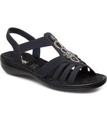 60836-14 shoes summer shoes flat sandals blå rieker