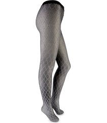 wolford women's diamond-print tights - grey - size s