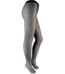 wolford women's diamond-print tights - grey - size s