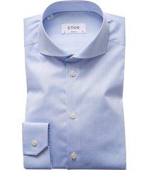 overhemd eton lichtblauw effen super slim