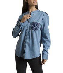 blusa kiev denim rockford