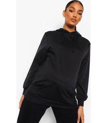 zwangerschaps oversized hoodie, black