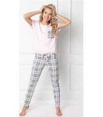 pizama londess long pink-grey