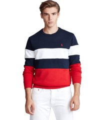polo ralph lauren men's color-blocked sweatshirt