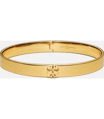 tory burch women's kira hinged bracelet - tory gold