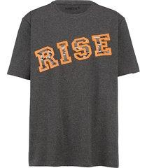 t-shirt men plus antraciet::neonoranje