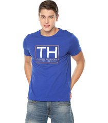camiseta azul royal tommy hilfiger