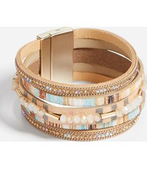 maurices womens multi color wide magnetic bracelet