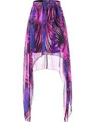 african print maxi asymmetrical skirt