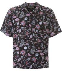 carhartt paradise print bowling shirt
