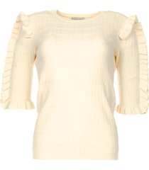 sweater met ruches alastor  beige
