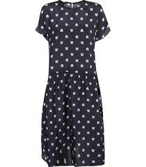 aspesi all-over printed dress