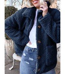 cappotto corto invernale a maniche lunghe con risvolto in pile