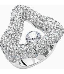anello aperto tigris, grigio, placcatura in palladio