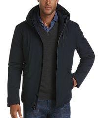pronto uomo navy hoodie jacket
