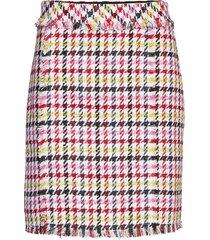 houndstooth boucle skirt kort kjol multi/mönstrad karl lagerfeld