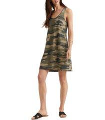 lucky brand camo-print tank dress