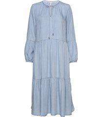 pzdonatella dress jurk knielengte blauw pulz jeans