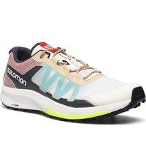 ultra raid vanila/rooibos tea/yellow shoes sport shoes outdoor/hiking shoes multi/mönstrad salomon
