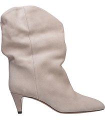 stivaletti stivali donna con tacco camoscio dernee