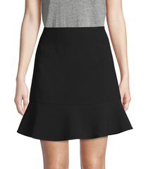 french connection women's no-waistband flare skirt - black - size 12