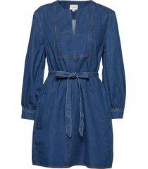 luna jule cntrst st drss w/blt korte jurk blauw french connection