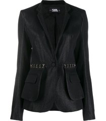 karl lagerfeld sparkle evening jacket - black
