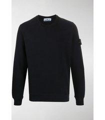 stone island logo long-sleeve sweatshirt