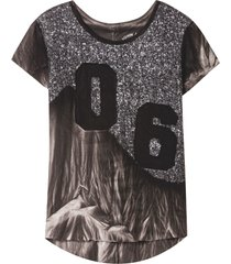camiseta john john six malha algodão cinza feminina (cinza escuro, gg)