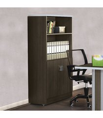 armário para escritório com chave office versatil 1012 teca itália - kappesberg
