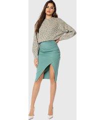 falda ivyrevel larga verde - calce ajustado