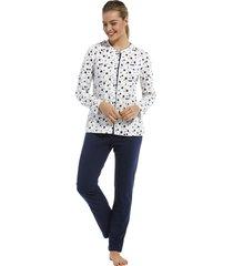 dames pyjama doorknoop pastunette 20212-149-6-44