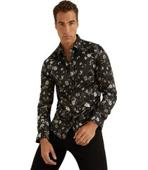 camisa ls luxe mystic floral shirt negro guess