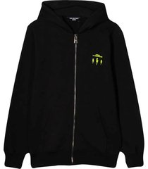 neil barrett black hoodie with frontal logo