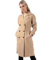only womens emilia long trench coat size 16 in brown