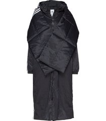 lg pd jacket gevoerde lange jas zwart adidas originals