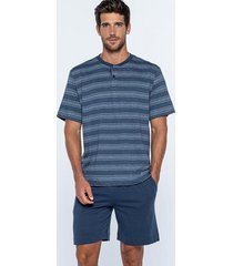 punto blanco pyjama - grunge blauw