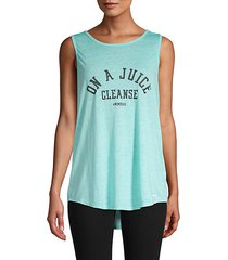 graphic cutout-back tank top