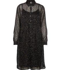 pzplanet dress knälång klänning svart pulz jeans
