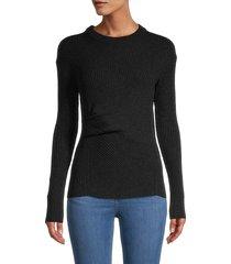 allsaints women's krista wool & cashmere-blend jumper - cinder black - size m