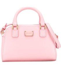 dolce & gabbana kids bolsa tiracolo com placa de logo - rosa