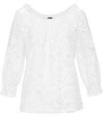 maglia con pizzo (bianco) - bodyflirt