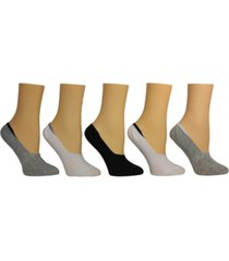 steve madden women's solid foot liner socks, pack of 5