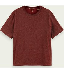 scotch & soda loose fit metallic t-shirt