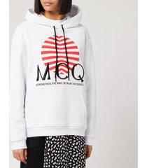 mcq alexander mcqueen women's sweatshirt - optic white - m