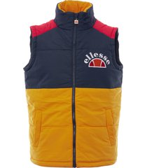 ellesse navy sorbo padded colour block gilet shy05324-nvy