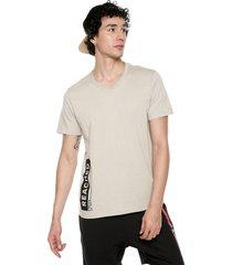 camiseta beige-negro colore