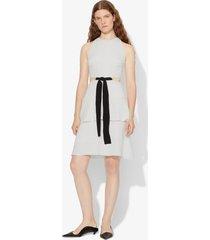 proenza schouler crepe cut out tie dress off white/grey 4